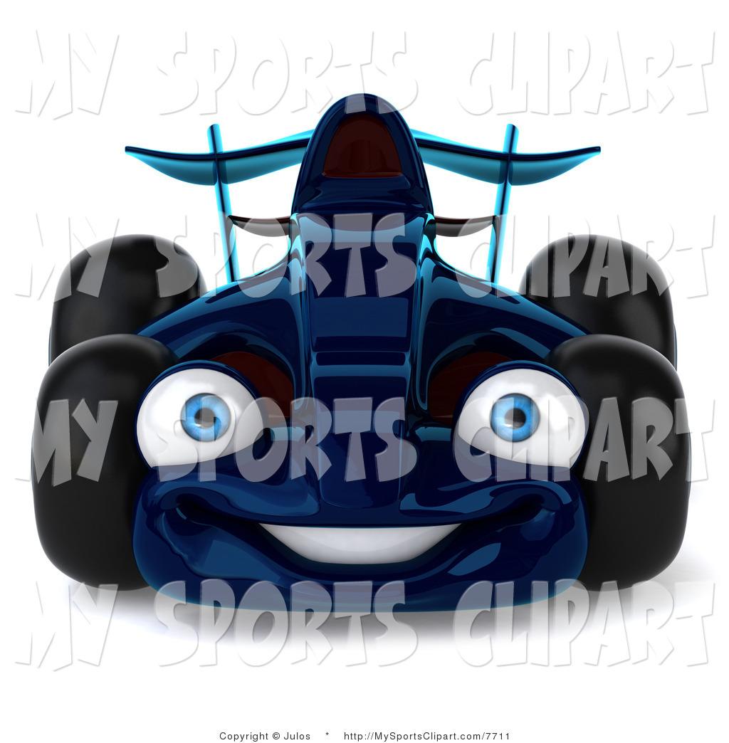 1024x1044 Sports Clip Art Of A Blue Race Car By Julos