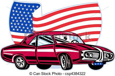 450x298 American Car Clipart