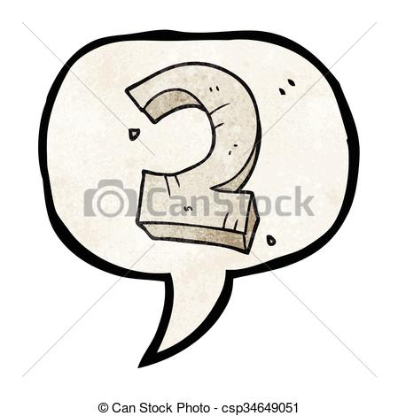 449x470 Freehand speech bubble textured cartoon stone number two.