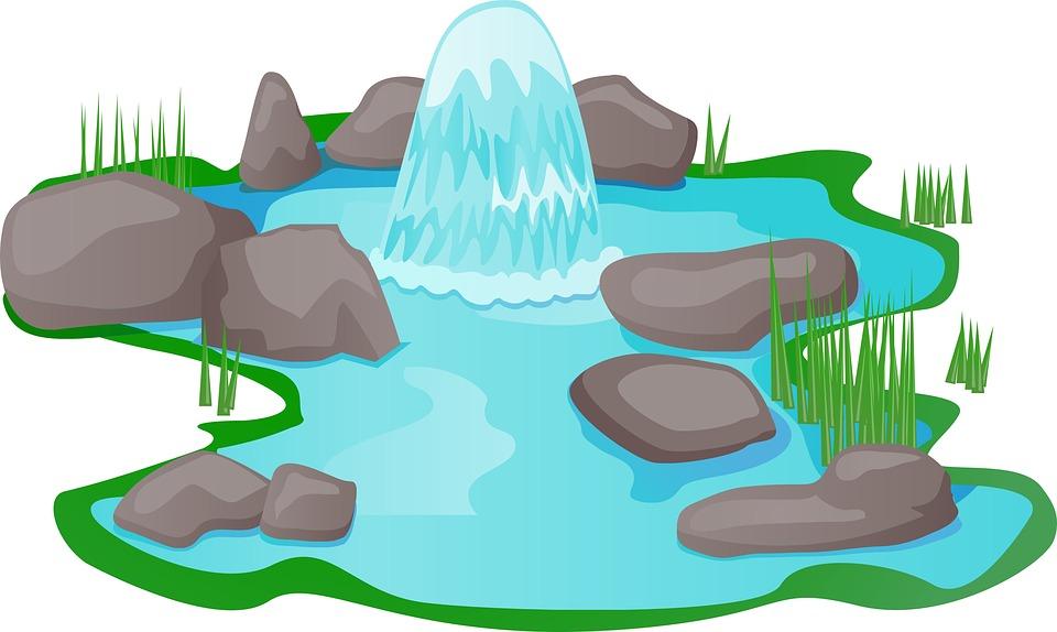 960x574 Fountain Pond Clipart