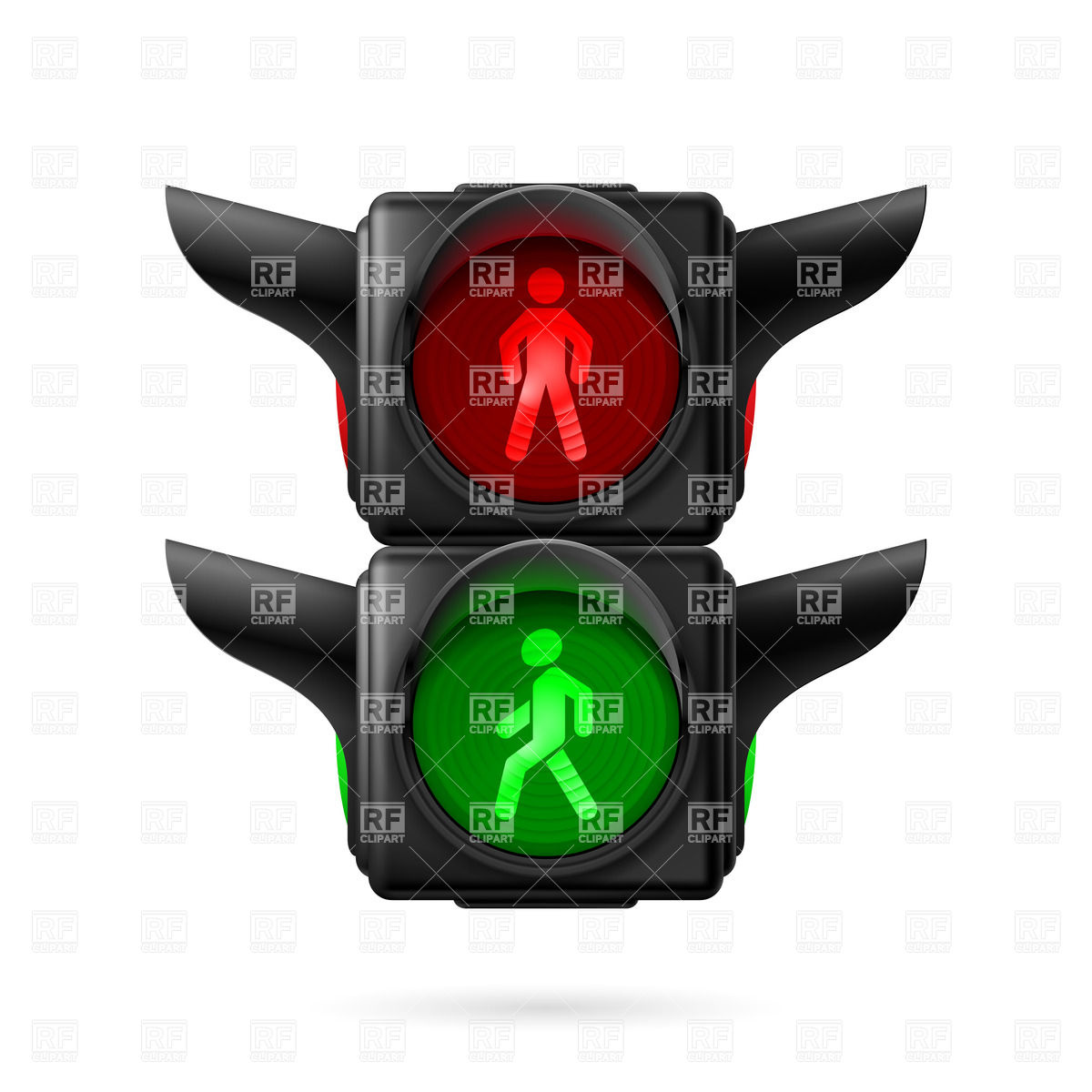 1200x1200 Pedestrian Traffic Light With Red And Green Lamps On Royalty Free