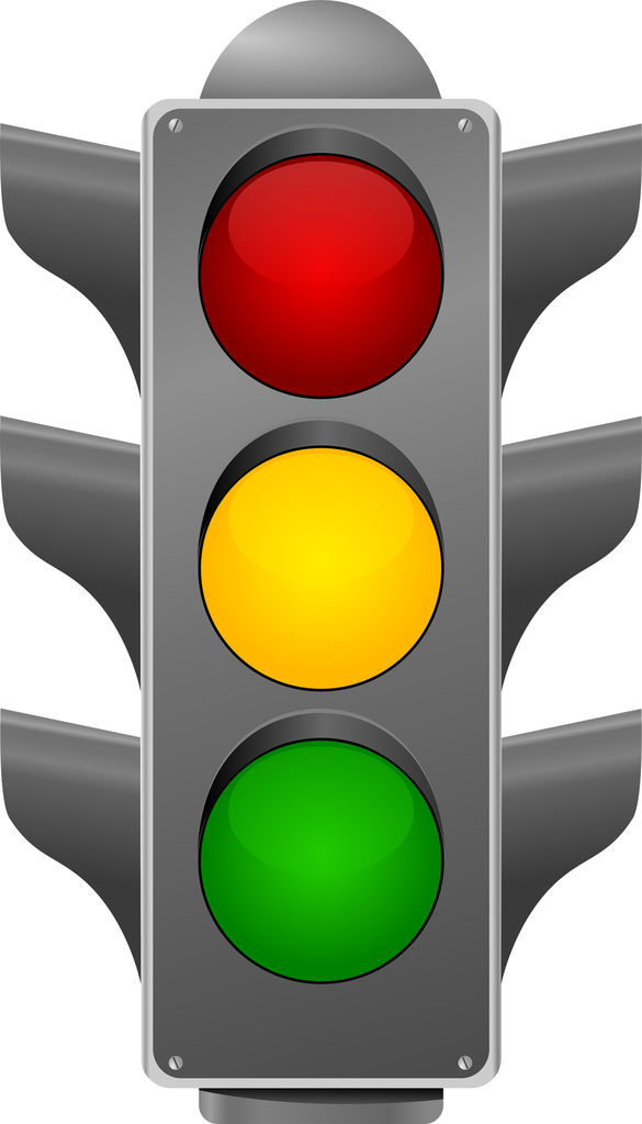 585x1023 Traffic Light Clipart Simbol