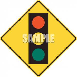 300x300 Traffic Light Clipart Caution