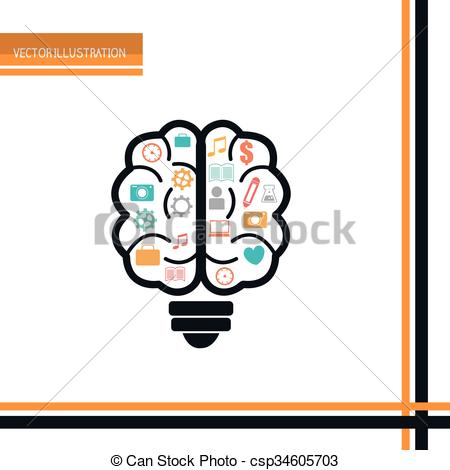 450x470 Brain Storm Design Brain Storm Design, Vector Illustration