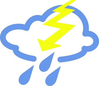 425x366 Free Download Of Thunder Storms Weather Symbol Clip Art Vector