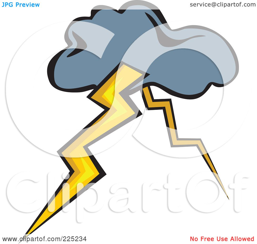 1080x1024 Royalty Free (Rf) Clipart Illustration Of A Storm Cloud With Two
