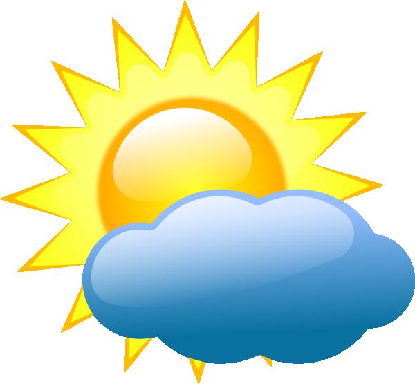 600x555 Summer Sun And Cloud Clip Art Clip Art