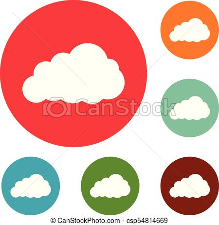 450x462 Storm Cloud Icons Circle Set Vector Isolated On White Clip Art