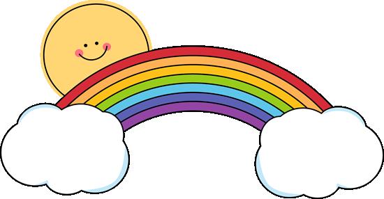550x286 Sun And Rainbow. Weather Clip Art Rainbows, Clip