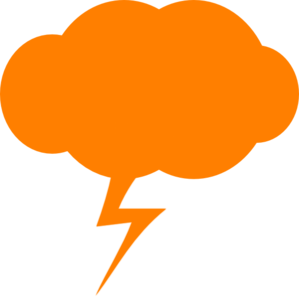 299x297 Thunder Orange Clip Art