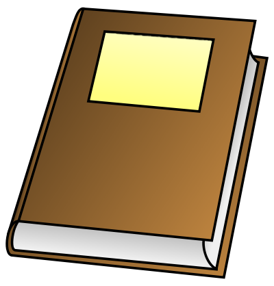 400x418 Clip Art Of A Storybook Cover Clipart