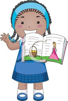 236x350 Little African American Girl Reading A Storybook Out Loud