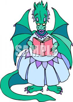 252x350 Mother Dragon Reading A Storybook