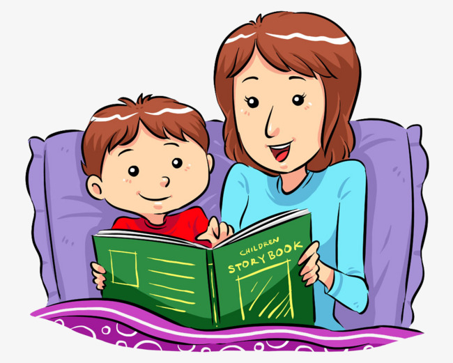 650x521 Telling Stories To Children's Mother, Child, Book, Night Png Image