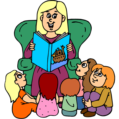 500x500 Clip Art Person With Story Clipart