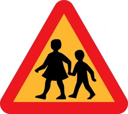 425x377 Child And Parent Crossing Road Sign Clip Art Kylie's Bus Stop