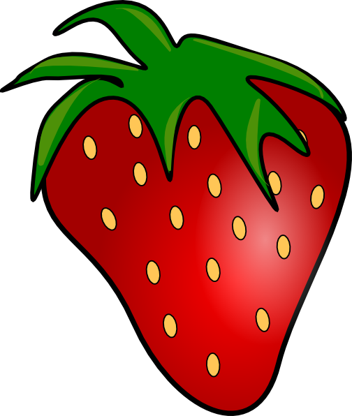 504x596 Strawberry Clipart Red Delicious Strawberry Clip Art