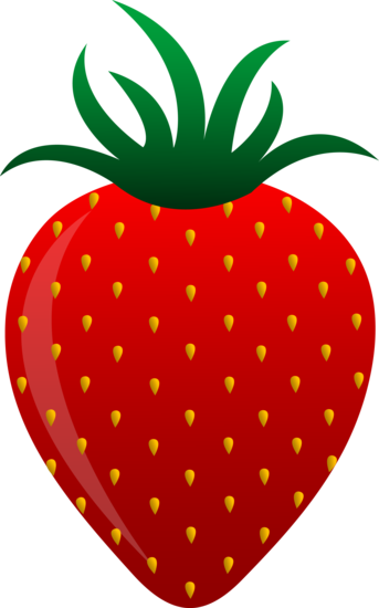 343x550 Free Clip Art Of A Sweet Red Strawberry Sweet Clip Art