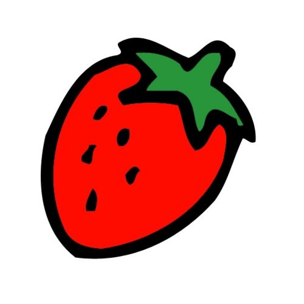1024x1024 Strawberry Clipart Animal Clipart