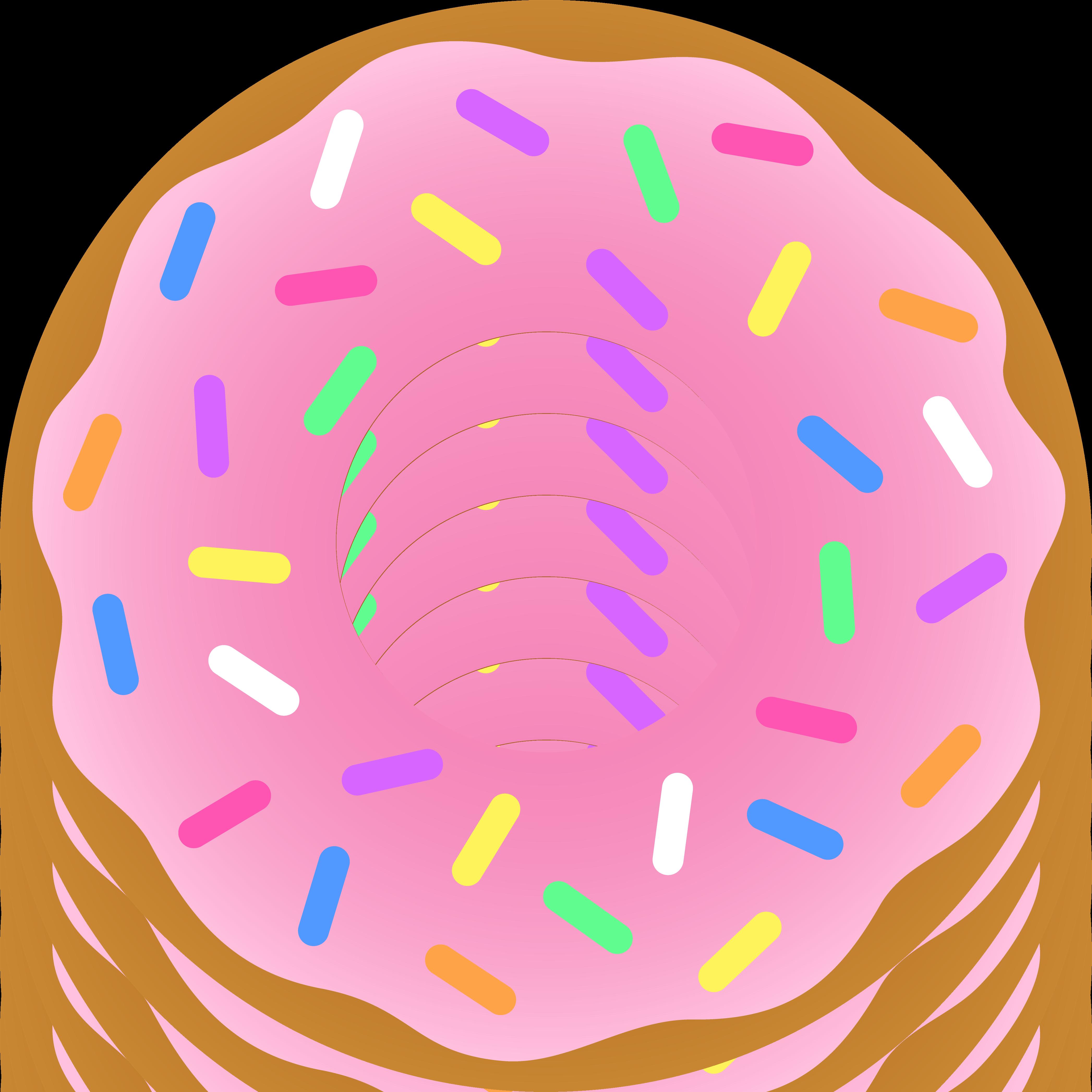 4187x4187 Strawberry Donut With Sprinkles