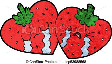 450x258 Cartoon Strawberries Clip Art Vector
