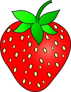 231x300 Clip Art Eating Strawberry Clipart