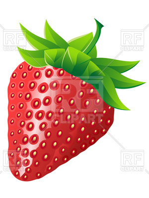 300x400 Strawberry Royalty Free Vector Clip Art Image
