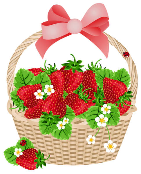 486x600 Basket With Strawberries Transparent Png Clipart Fruit Clip Art