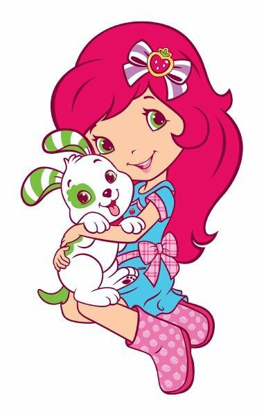 381x600 Strawberry Shortcake Dogters 2 Digi Stamps, Clip