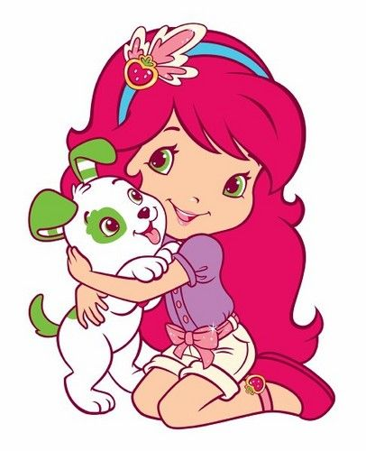 406x500 Strawberry Shortcake. An Illustration