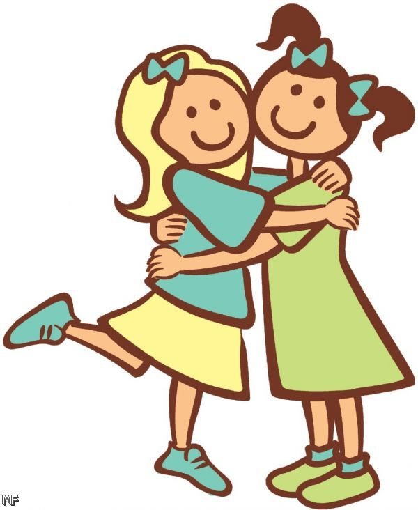 600x732 Cartoon Friends Clipart Gallery Images)