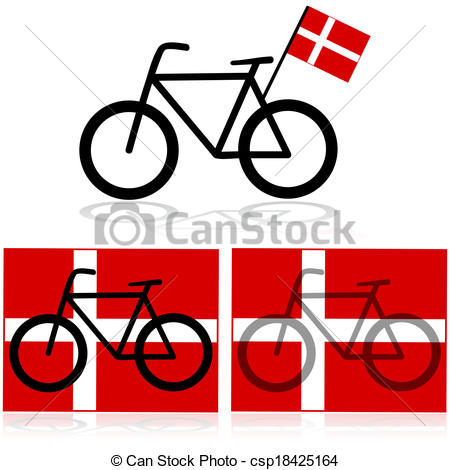 450x470 Danish Bike. Concept Illustration Showing A Bicycle
