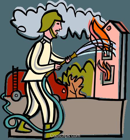 448x480 Burning House Clipart