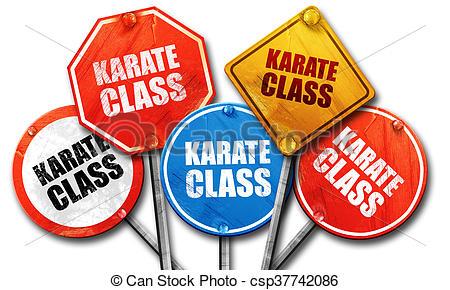 450x290 Karate Class, 3d Rendering, Street Signs Stock Illustration