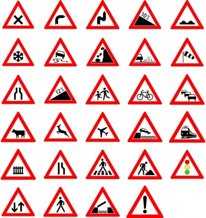 403x425 Free Download Of Traffic Street Road Signs Clip Art Vector Graphic