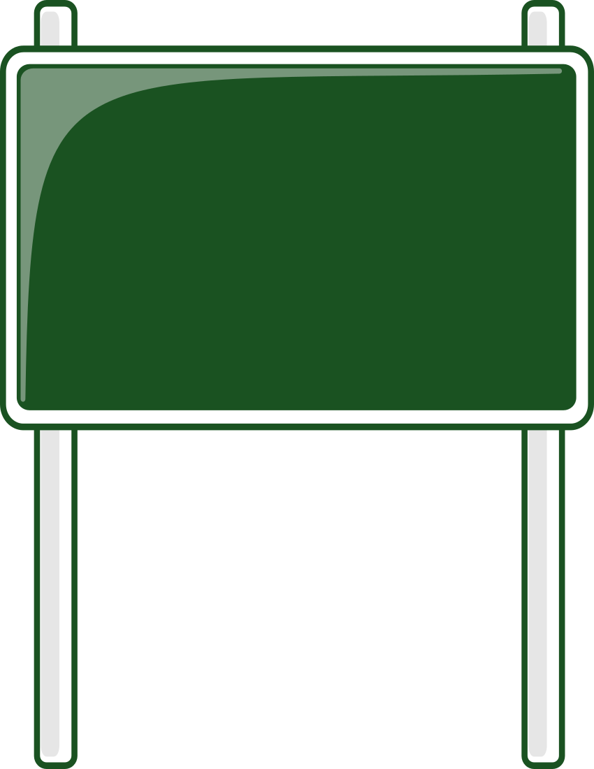 850x1100 Highway Road Signs Clipart