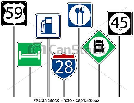 450x348 Highway Signs Clip Art