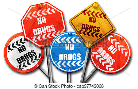 450x290 No Drugs Sign, 3d Rendering, Street Signs. No Drugs Sign Stock