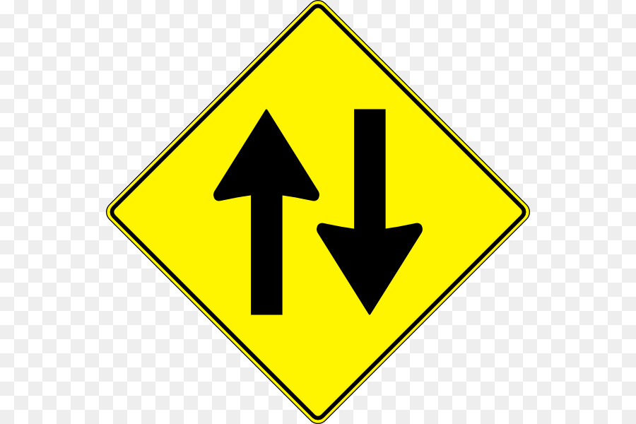 900x600 Traffic Sign One Way Traffic Two Way Street Clip Art