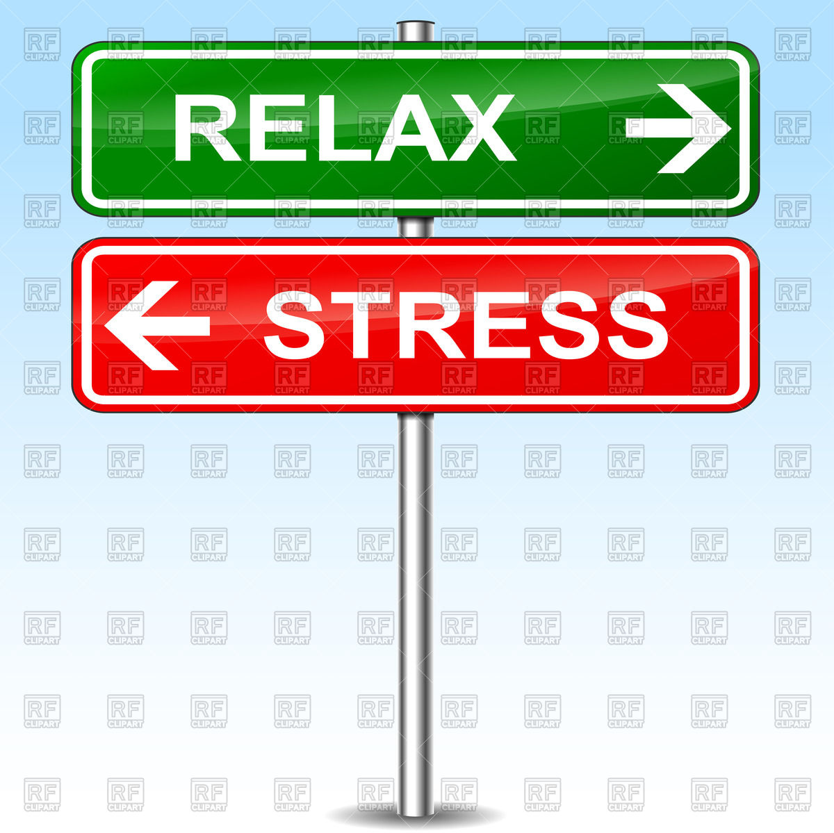 1200x1199 Traffic Sign With Words Relax And Stress Royalty Free Vector Clip