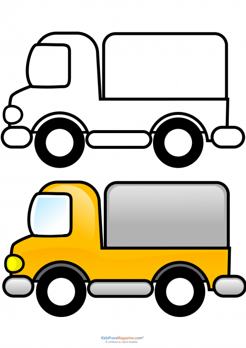 500x706 Match Up Coloring Pages Delivery Truck Stress Relief And Crafts
