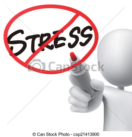 450x470 No Stress Drawn By A Man Over White Background Vector Clipart