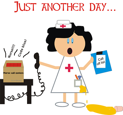 400x373 Stressed Out Nurse Clipart