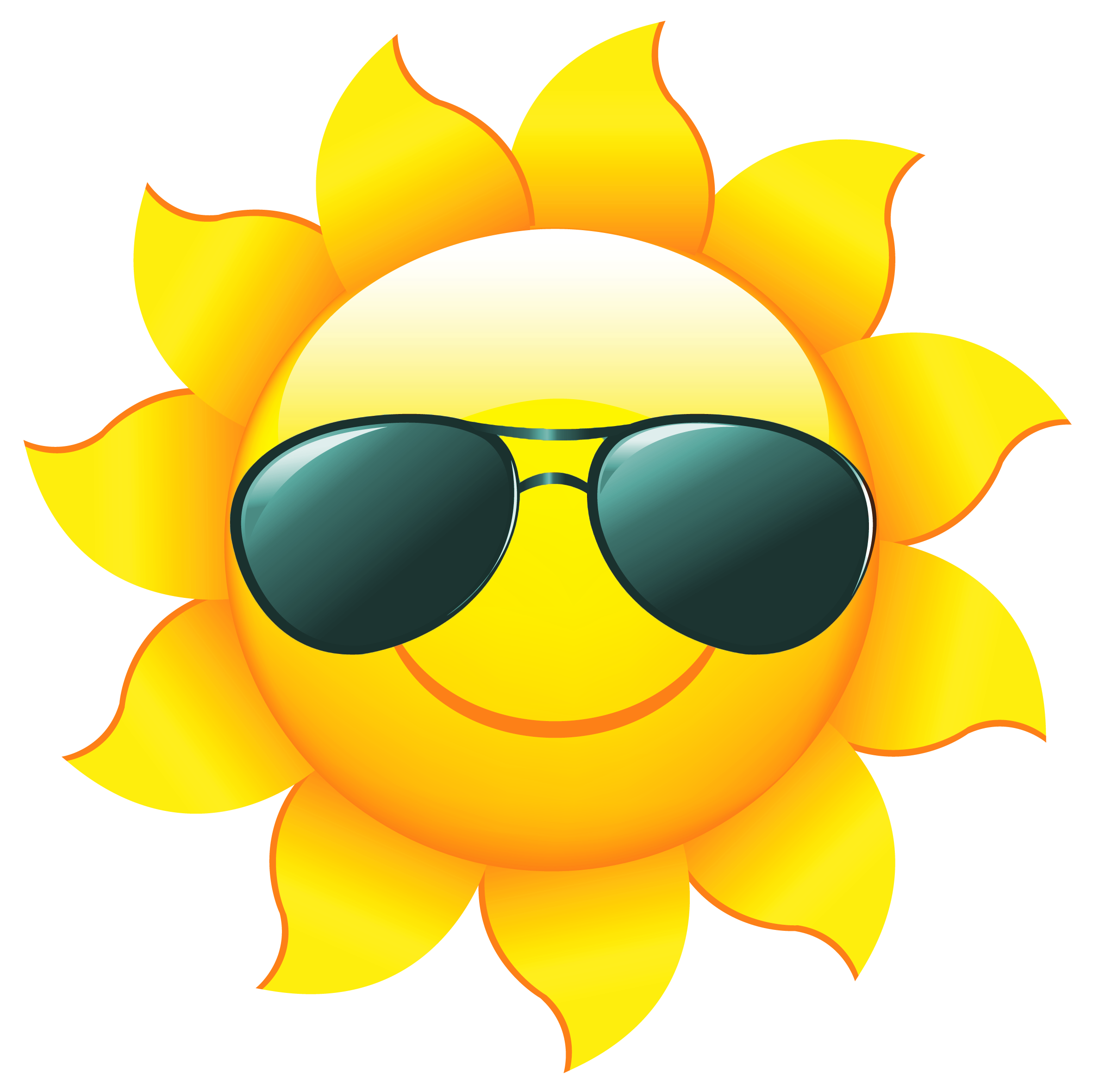 2361x2358 Sun With Sunglasses Clipart Free Collection Download And Share
