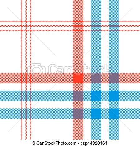 450x470 Check White Textile With Red And Blue Stripes Seamless Clip Art