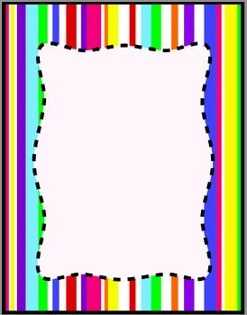 274x350 Colorful Stripes Frames, Borders, Background Clip Art Digital
