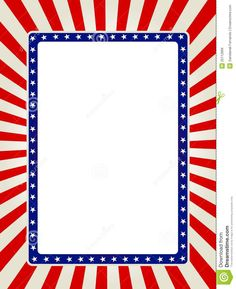 236x289 Free Patriotic Page Borders Blue And Red Patriotic Stars Stripes