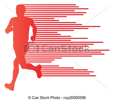 450x394 Man Runner Silhouette Vector Background Template Concept Eps