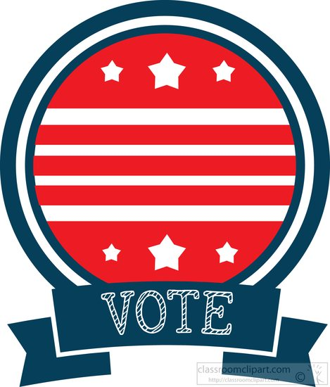 469x550 Voting Vote Logo With Stars Stripes Clipart 700152 Classroom