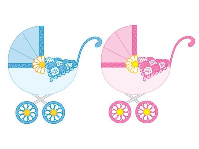 680x511 Baby Stroller Clipart